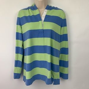 Vineyard Vines Med Hooded long sleeve green blue